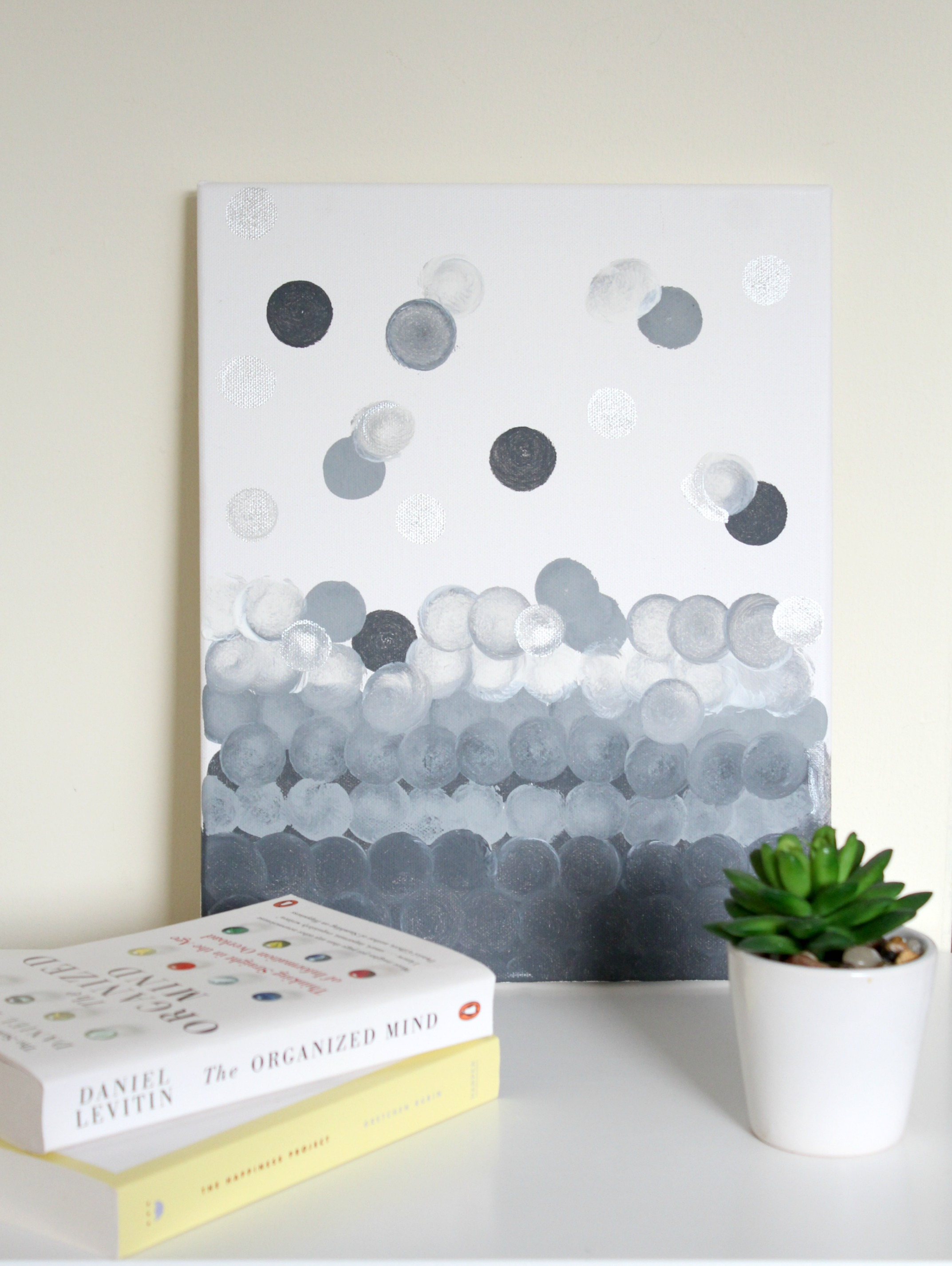 Abstract wall art on canvas