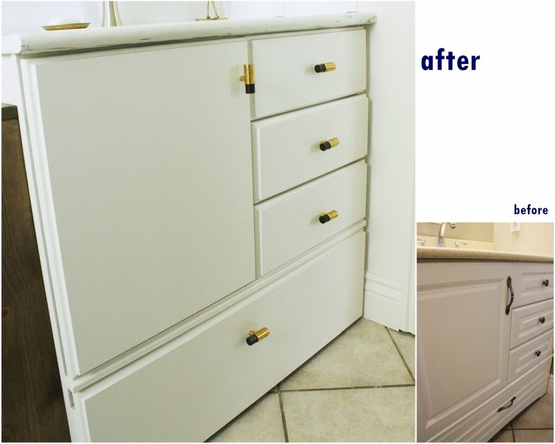 Bathroom drawer pulls makeover