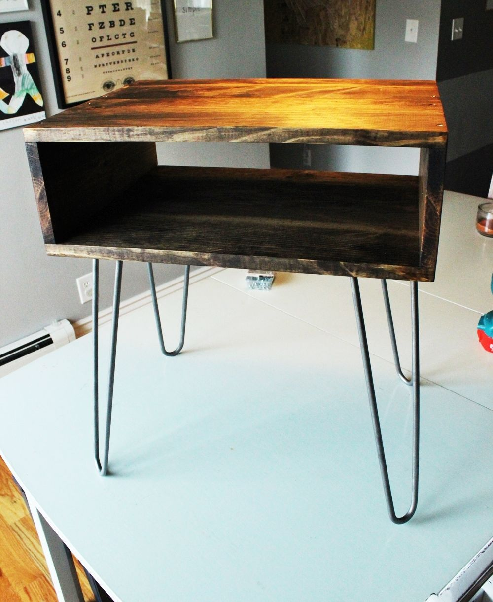 DIY Hairpin Leg Side Table Project