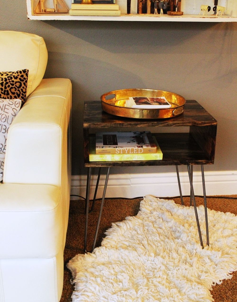 DIY Hairpin Leg Side Table Use it like Coffee Table Also