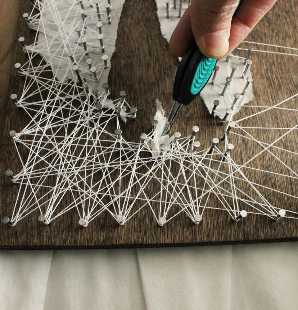 DIY String Art Tree - keep your sketch paper intact