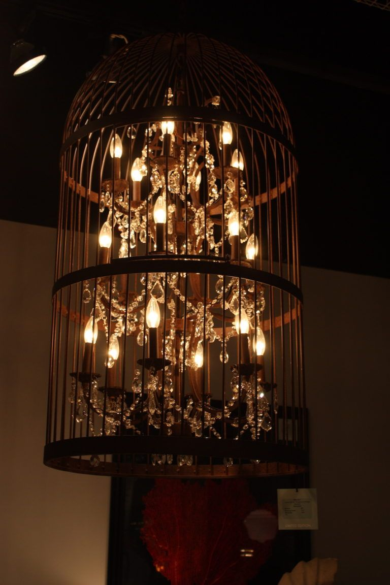 HTD caged chandelier from Las Vegas Market