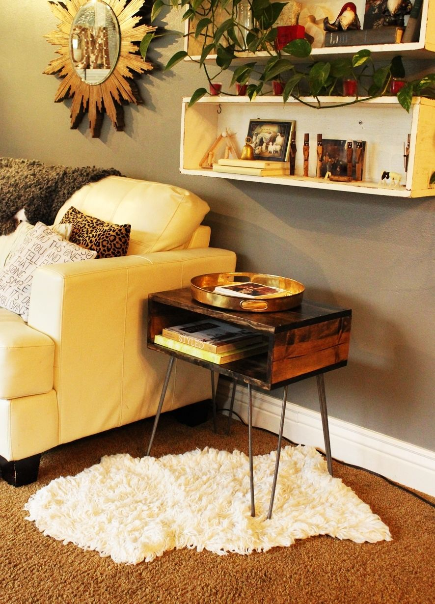 How to create a hairpin leg side table