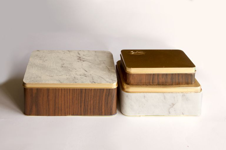 Upcycled Marble Containers Top