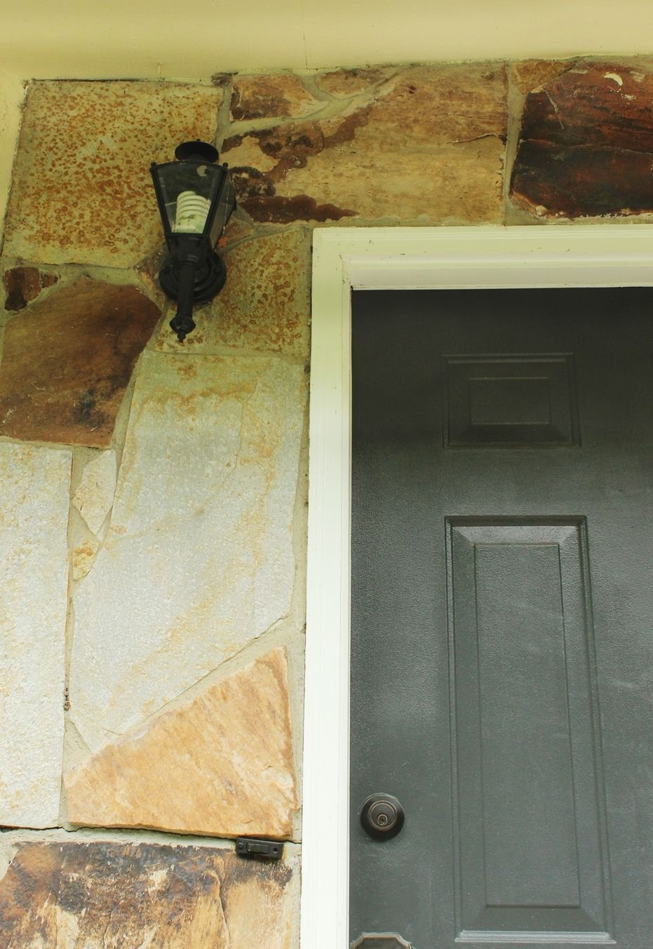 How to remove the old lighting fixture from porch
