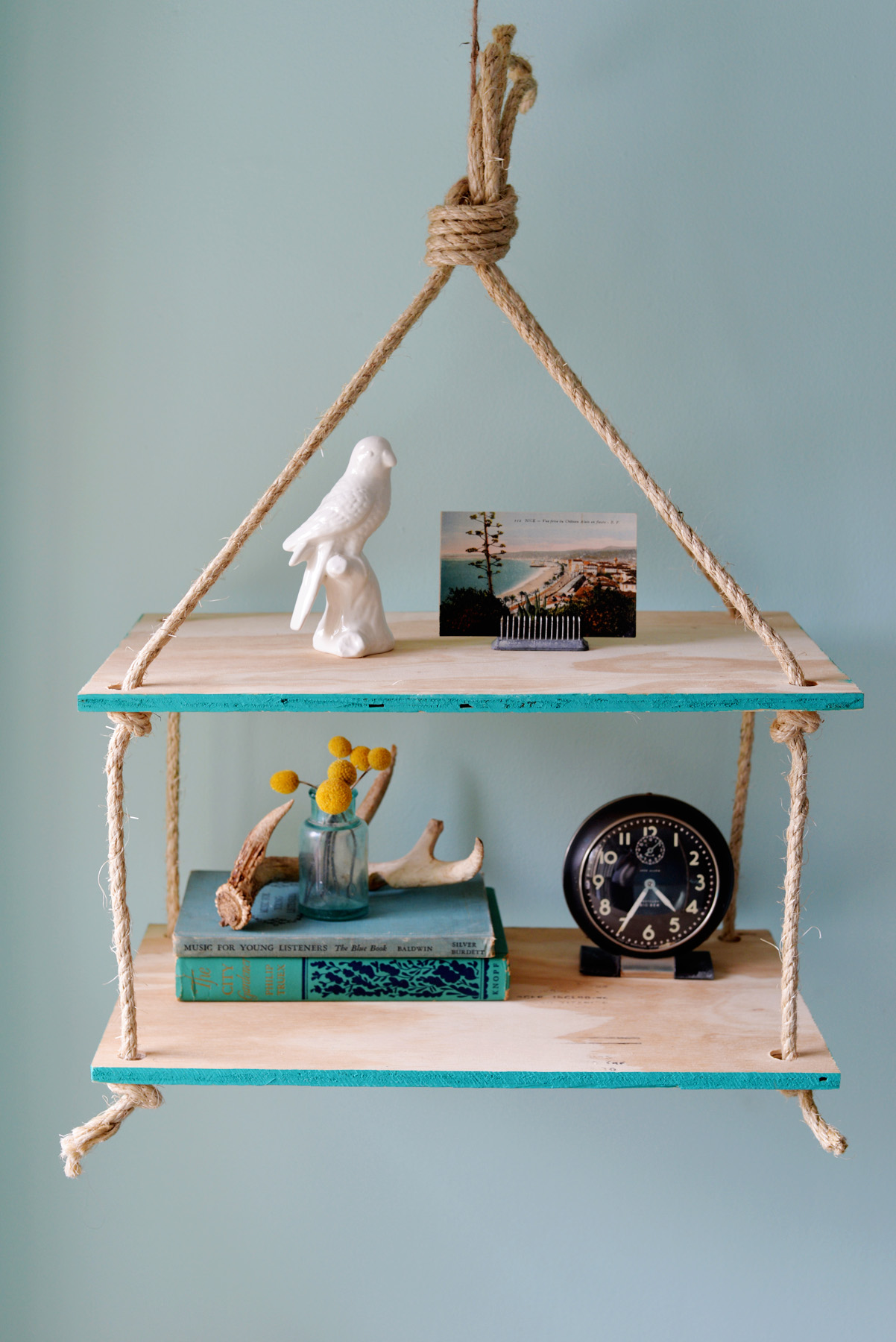 DIY Hanging Rope Shelf - Household Appliance Evaluation Reviews ...